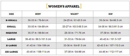 ZOOT Women's サイズ表
